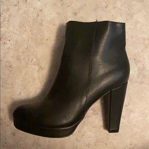 Heeled pleather bootie- Never worn